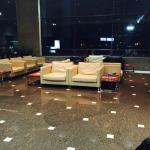 Área da recepção do hotel