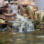 Pond made from Petrified Wood