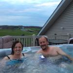 Hot tub on Lofts private deck.