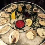 Fresh delicious oysters
