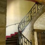 Escada de acesso aos apartamentos