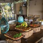 Beautiful breakfast spread at DumaTau