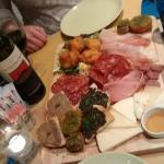 Sharing Platter for starter - (don't really need a main) All sourced from Tuscany.