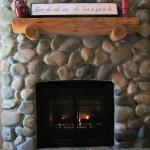 River Rock Gas Fireplace