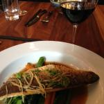 sea bass in an amazing ginger sauce