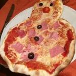 Pizza du menu enfant