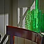Light reflexion in Po restaurant ,Cornelia street NYC