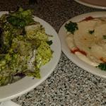 Flaming Kabob's Combo part 2 - salad and hummus