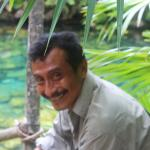 Pedro Poot at the Tankah cenote