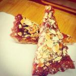 Salted honey and almond slice