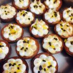 Little meringue and passion fruit tartlets