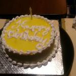 Birthday cake - Complimentary.