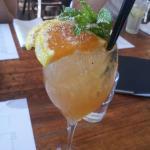 Mai tai cocktail with nutmeg