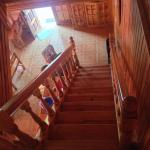 Staircase to the dining area