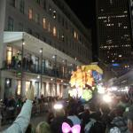 Mardi Gras Parade Passing In Front Of Marriot Courtyard
