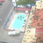 A piscina de treino
