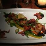 Scallops, Black Pudding and Bacon starter - lovely