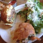 Cheeseburger and salad were yummy!