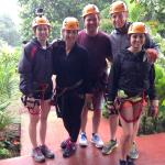Our group before heading out on the zip-line tour