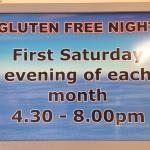Check out our Gluten free evenings.