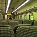 Inside one of the train cars on the North Creek railroad choo choo