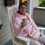 Hot tea on front porch