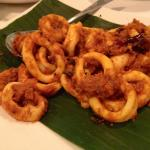 The sambal squid (or sotong) was too salty, a disappointment.