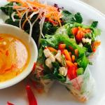 Should try this 'Chicken Rice Paper Rolls'. Available in our cafe.