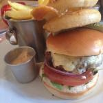 The Bell Burger with chunky chips!