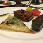 Vegetarian (vegan) starter (the one in the back is an aubergine)