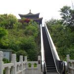 Rolltreppe zur Tempelanlage