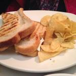 Brie, Apple & Prosciutto Grilled Cheese & Rosemary Chips