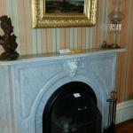 First of two fireplaces