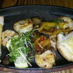 Piri piri prawns from gluten free menu
