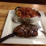 Annie's steak and loaded baked potatoe