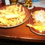 Spicy Prawns and a side of  fries