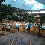 Beautiful Atrium.  Pool in background