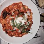 Gnocchi with chicken and portobello mushrooms!