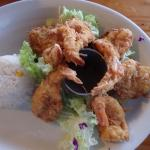 Succulent coconut shrimp