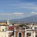 View from the rooftop of NH Puebla