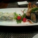 Boston Roll and Shrimp Tempura Roll. A plate of plate of pleasure and awesomeness.  :-)
