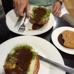 Pie with mashed potato and gravy - brilliant!