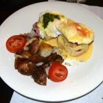 Crab Cake Green Eggs and Ham Benedict