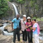 Me and my co-researchers with Tinago falls in the background