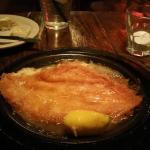 Saganaki (Flaming Cheese) at Manos Greek Restaurant
