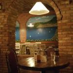 Mural in Dining Area at Manos Greek Restaurant