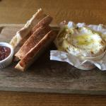 Baked Camembert with a Garlic Drizzle- Very Nice