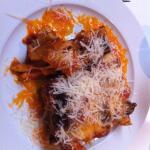 Maccheroni gratinati melanzane e fontina