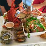 Deluxe seafood platter with lobster - highly recommended!