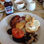 The wonderful breakfast served at The Garniche....